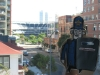 Bob in San Diego Hotel with view of Petco park