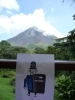 Bob watching over the volcan arenal in Costa Rica