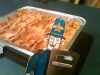 Bob loves his lasagne