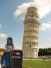 Bob by the leaning Tower of Pisa