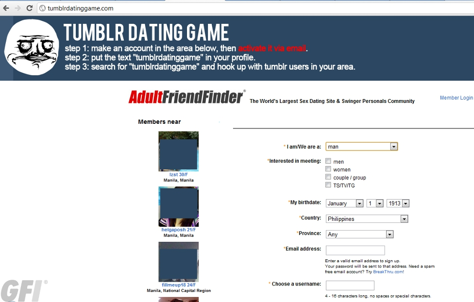 Dating website tumblr