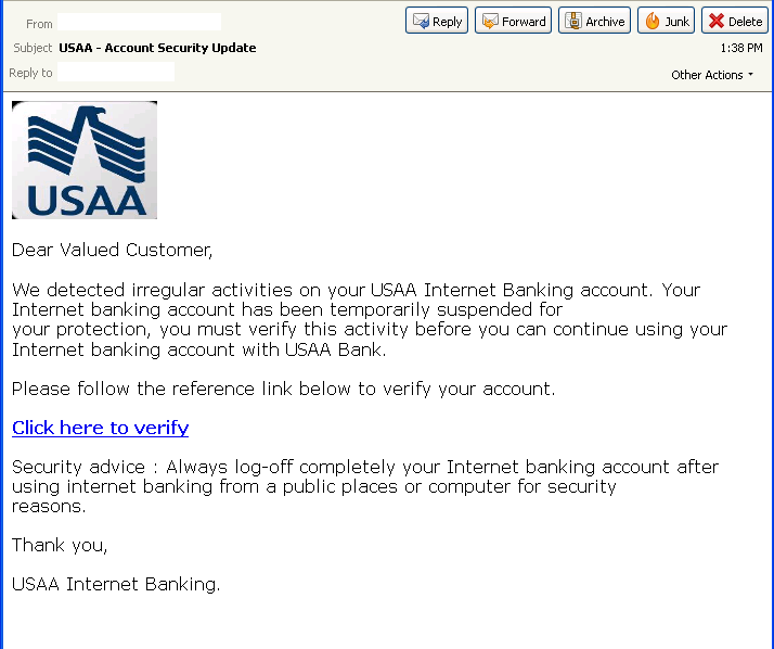 usaa insurance card template  Phishers Take Aim at USAA « Threattrack Security Labs « ThreatTrack ...