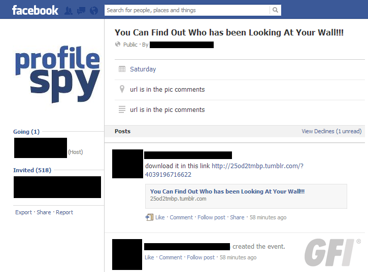 how to create an event from fb profile