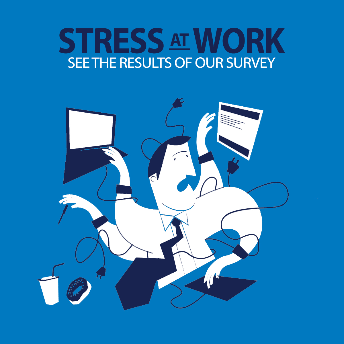the relation of technology and stress in the workplace Work-related stress arises where work demands of various types and combinations exceed the person's capacity and capability to cope work-related stress is the second most common compensated illness/injury in australia, after musculoskeletal disorders.